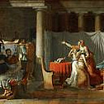 Jacques-Louis David - Lictors bearing to Brutus the bodies of his sons