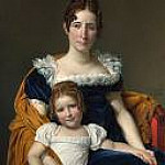 Jacques-Louis David - Portrait of the Comtesse Vilain XIIII and her Daughter