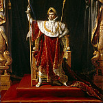 Portrait of Napoleon in imperial costume, Jacques-Louis David