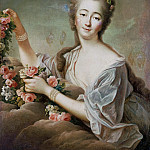 Francois-Hubert Drouais - Portrait of the Countess du Barry (1743-1793) as Flora