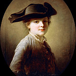 Francois-Hubert Drouais - Young boy with three–cornered hat
