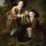 Count and the Chevalier de Choiseul as Savoyard, Francois-Hubert Drouais