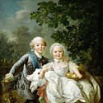 Francois-Hubert Drouais - The Count Artois and Madame Clotilde