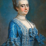 Francois-Hubert Drouais - Portrait of a lady in blue