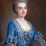 Portrait of a lady in blue, Francois-Hubert Drouais