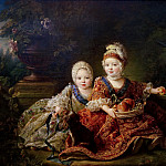 Francois-Hubert Drouais - Louis de France (1754-93) duc de Berry and Louis de France (1755-1824) comte de Provence (later Louis XVI and Louis XVIII)