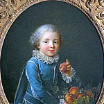 Boy with peaches, Francois-Hubert Drouais