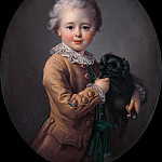 Francois-Hubert Drouais - Boy with a Black Spaniel