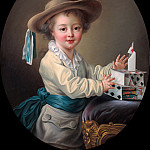 Francois-Hubert Drouais - Boy with a House of Cards