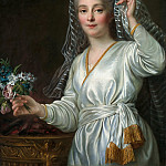 Francois-Hubert Drouais - Portrait of a Young Woman as a Vestal Virgin