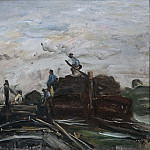 David Klöcker Ehrenstråhl - Barges on a River