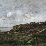 Gustaf Olof Cederström - Low Tide at Villerville