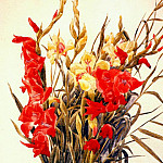 Charles Demuth - red and yellow gladioli 1928