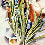 Charles Demuth - flower study no 1 (cyclamen and hyacinth) 1923