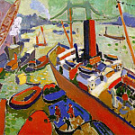 Andre Louis Derain - The Pool of London, 1906, oil on canvas