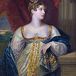 George Dawe - Portrait of Princess Charlotte of Wales and Saxe Coburg