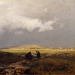 Paul Friedrich Meyerheim - Thunderstorm countryside