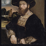 Dosso Dossi - Portrait of a Man Wearing a Black Beret
