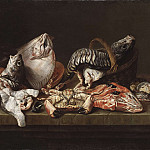 Gustave Courbet - Still Life with Fishes, a Crab and Oysters