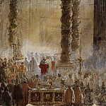 Charles XV of Sweden - Gustavus III Attending Christmas Mass in 1783, in St Peter's, Rome