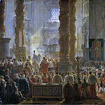 King Gustav III Attending Christmas Mass in 1783, in St Peter's, Rome
