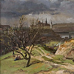 David Klöcker Ehrenstråhl - View of Meissen. Study