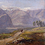 Peter Von Hess - Mountain at Laerdalen in Norway