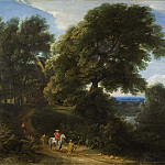 David Klöcker Ehrenstråhl - Landscape with a Rider in Red