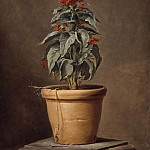 Jacob Heinrich Elbfas - A Potted Plant [Attributed]
