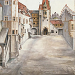 Albrecht Dürer - Courtyard of the Former Castle in Innsbruck without Clouds