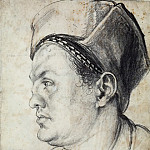 Portrait of Willibald Pirckheimer in profile, Albrecht Dürer