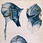 Albrecht Dürer - Study of three helmets