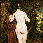 William Etty - NUDE BATHER BY A STREAM