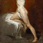 William Etty - A study of a male nude