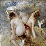 William Etty - Three Female Nudes, sketch for an unknown work