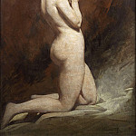 William Etty - Nude kneeling