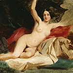 William Etty - Female Nude in a Landscape