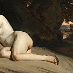 William Etty - RECLINING FEMALE NUDE IN A LANDSCAPE