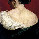 Head and Shoulders of a Girl, from behind