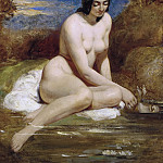 William Etty - The bather