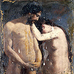 William Etty - Adam and Eve (Sketch)