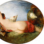 William Etty - Nude reading