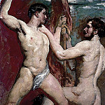William Etty - Two male nudes