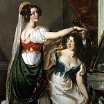 William Etty - Preparing for a Fancy Dress Ball (Charlotte and Mary William-Wynn)