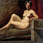 William Etty - Reclining female nude
