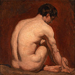 William Etty - Male Nude, Kneeling