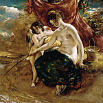 William Etty - NYMPH ANGLING