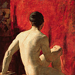 William Etty - Seated Male Model