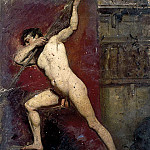 William Etty - Male Nude with Staff