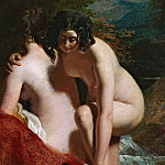 William Etty - Two Girls Bathing
